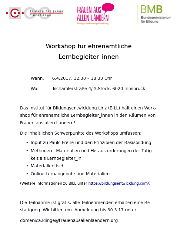 Workshop BILL