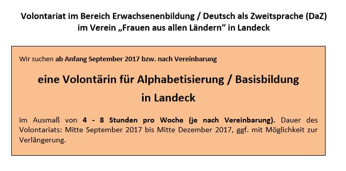 Volontariat in Landeck